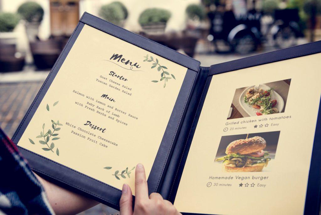 Come creare un menù per ristorante con un design creativo da stampare