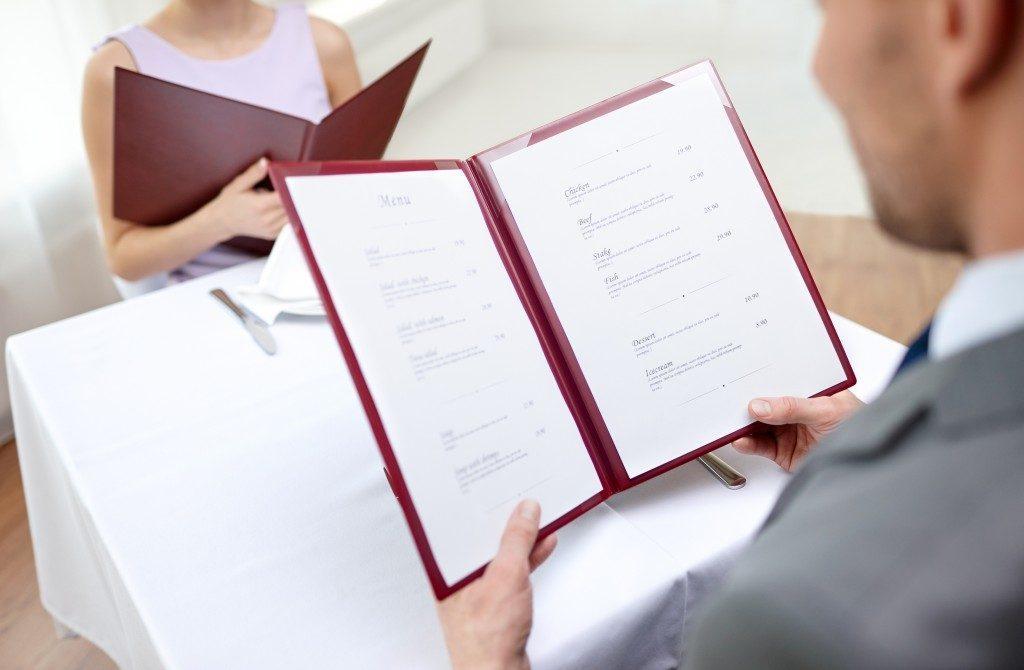 comecreare un menu per ristorante con Word: il layout