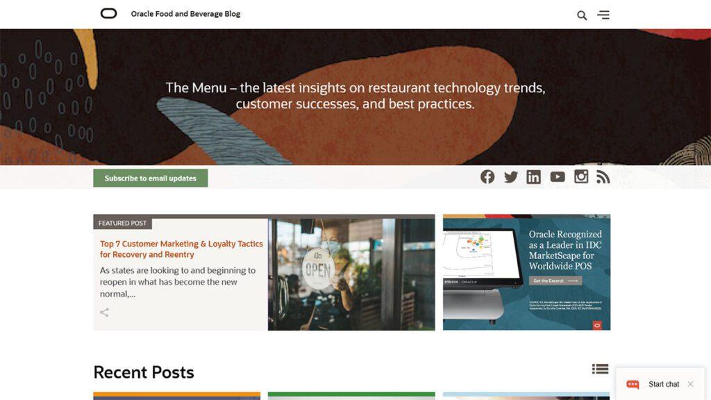 Oracle Food and Beverage Blog