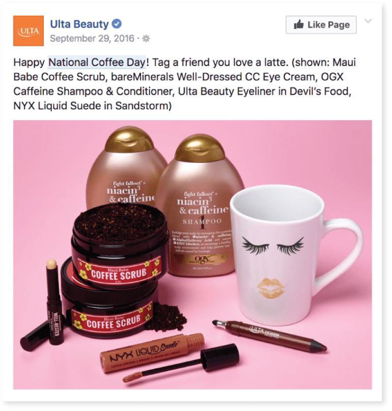 Idea di banner su Facebook: Ulta Beauty