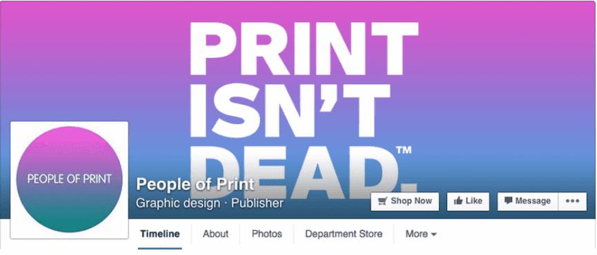 Idee per la tua copertina di Facebook: People Of Print