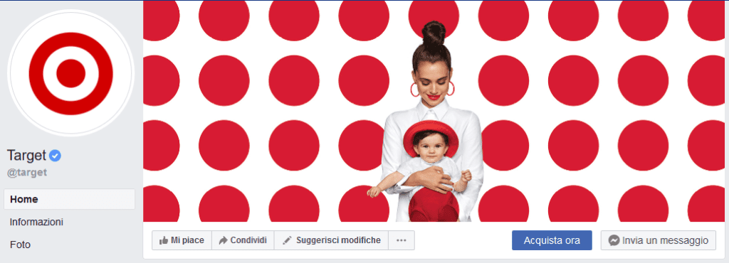 Idee per la tua copertina di Facebook: Target