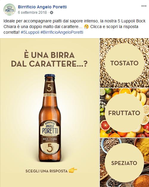 idea per un post su Facebook: Birrificio Angelo Poretti