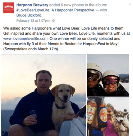 idea di contest su Facebook: Harpoon Brewery