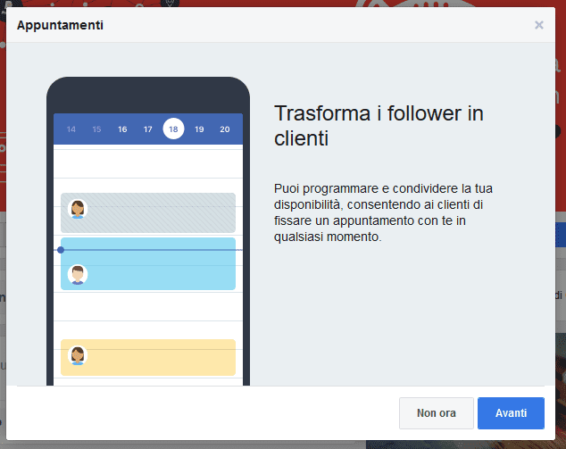 Trasforma i follower in clienti - Appuntamenti