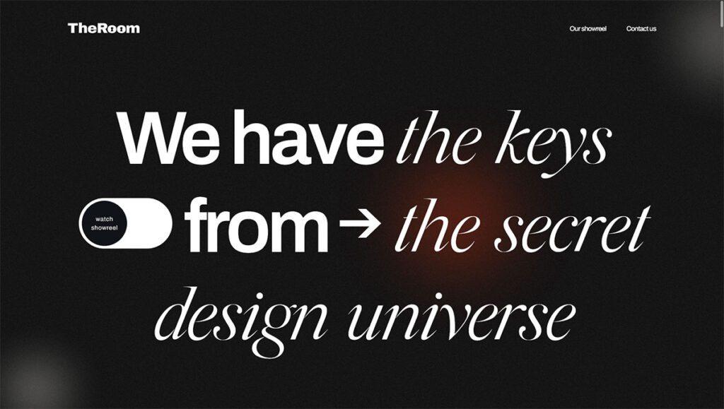 trend grafica con caratteri tipografici