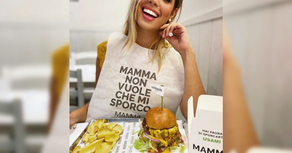 bavaglino personalizzato ristorante mamma milano