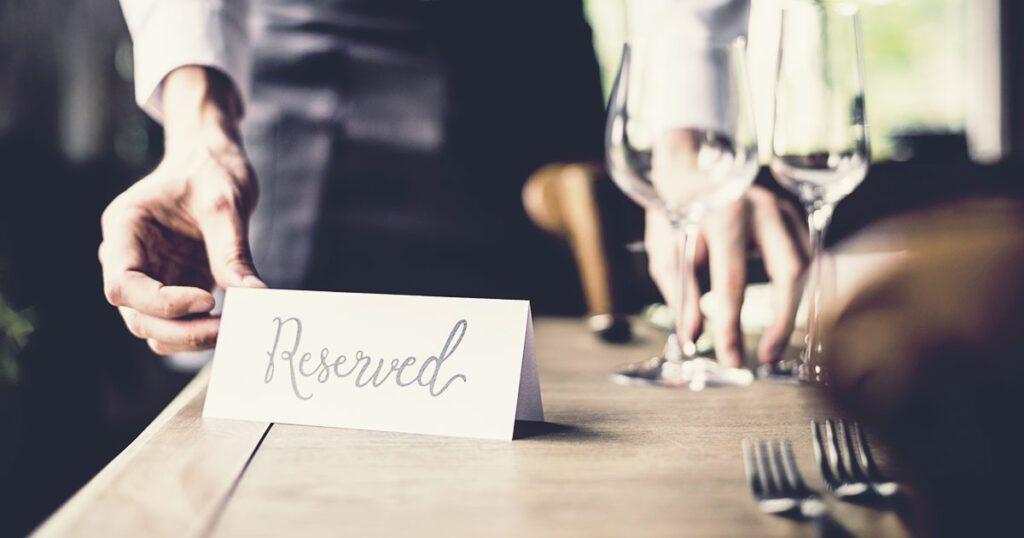 prenotazione di un tavolo al ristorante