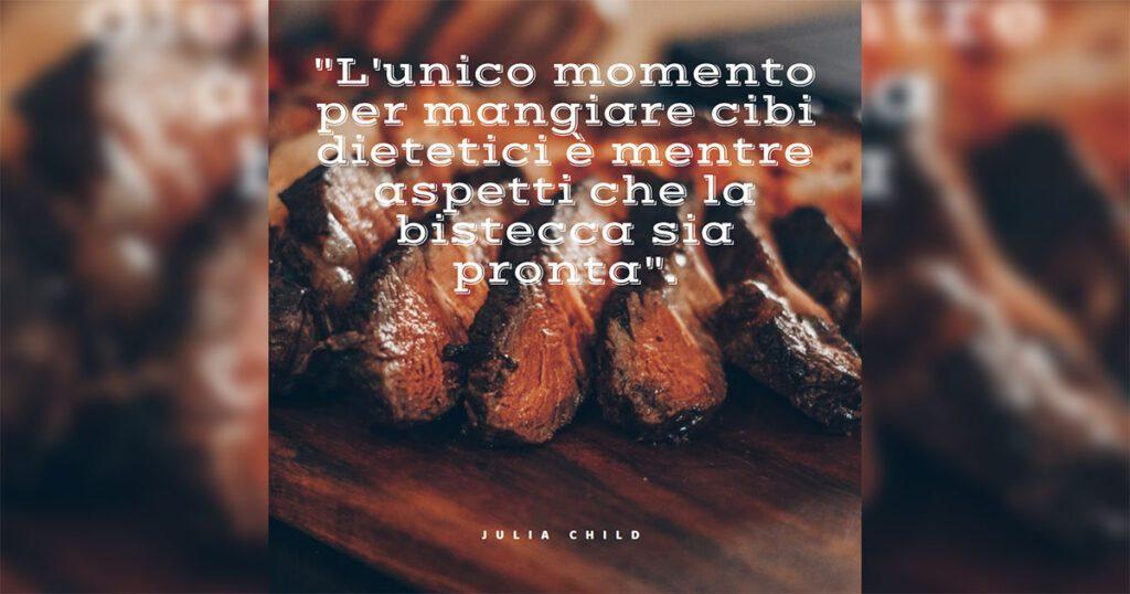 citazione sulla bistecca per post instagram